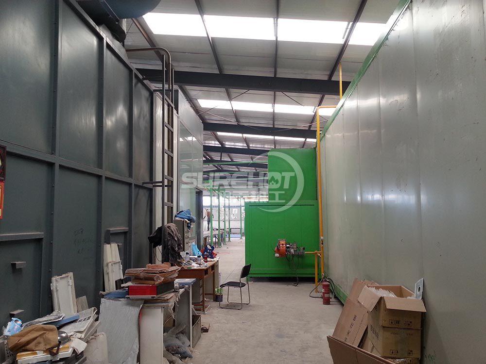 北京平谷烤漆厂 2台450KW烤漆流水线燃烧器