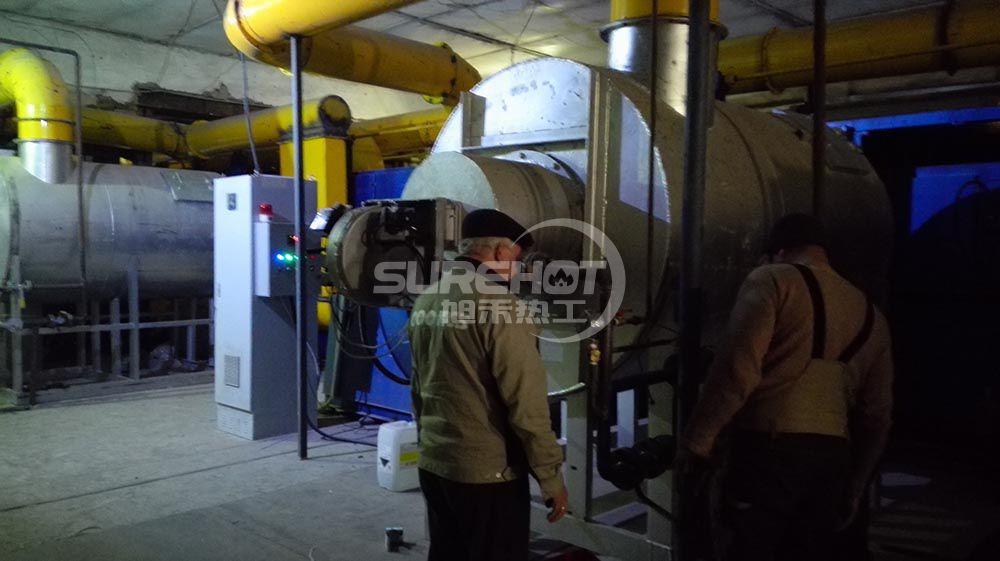 俄罗斯岩棉厂 4台581KW岩棉固化炉燃烧器