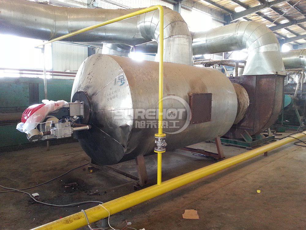 河北华能 2台1163KW岩棉固话炉天然气燃烧器