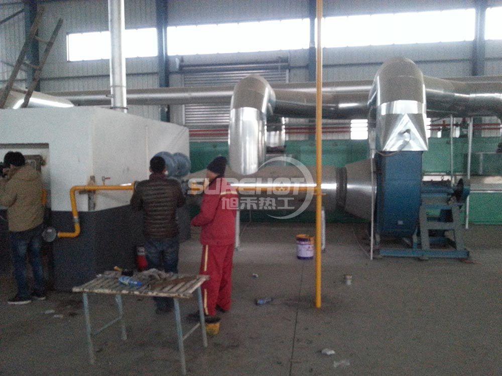 河北九龙 2290KW岩棉固化炉天然气燃烧器